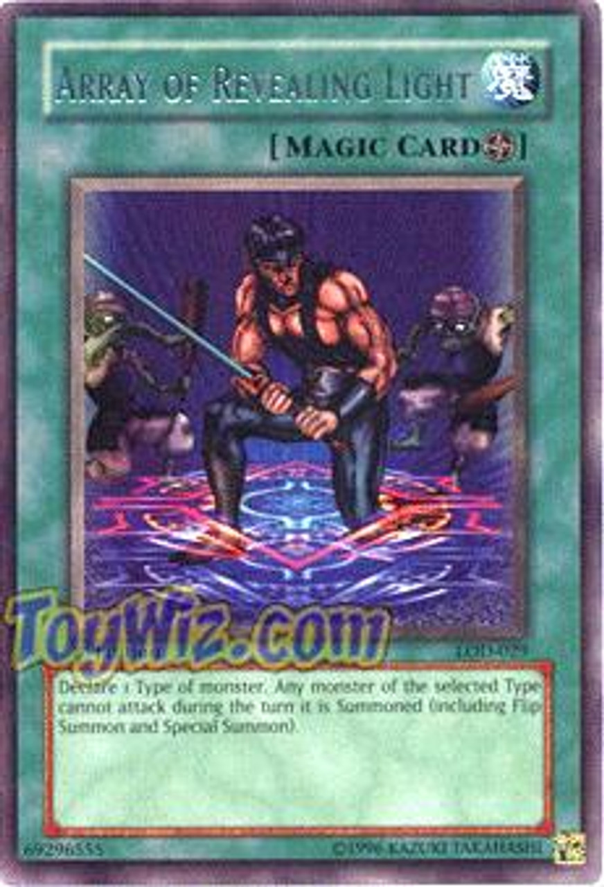YuGiOh Legacy of Darkness Rare Array of Revealing Light LOD-029