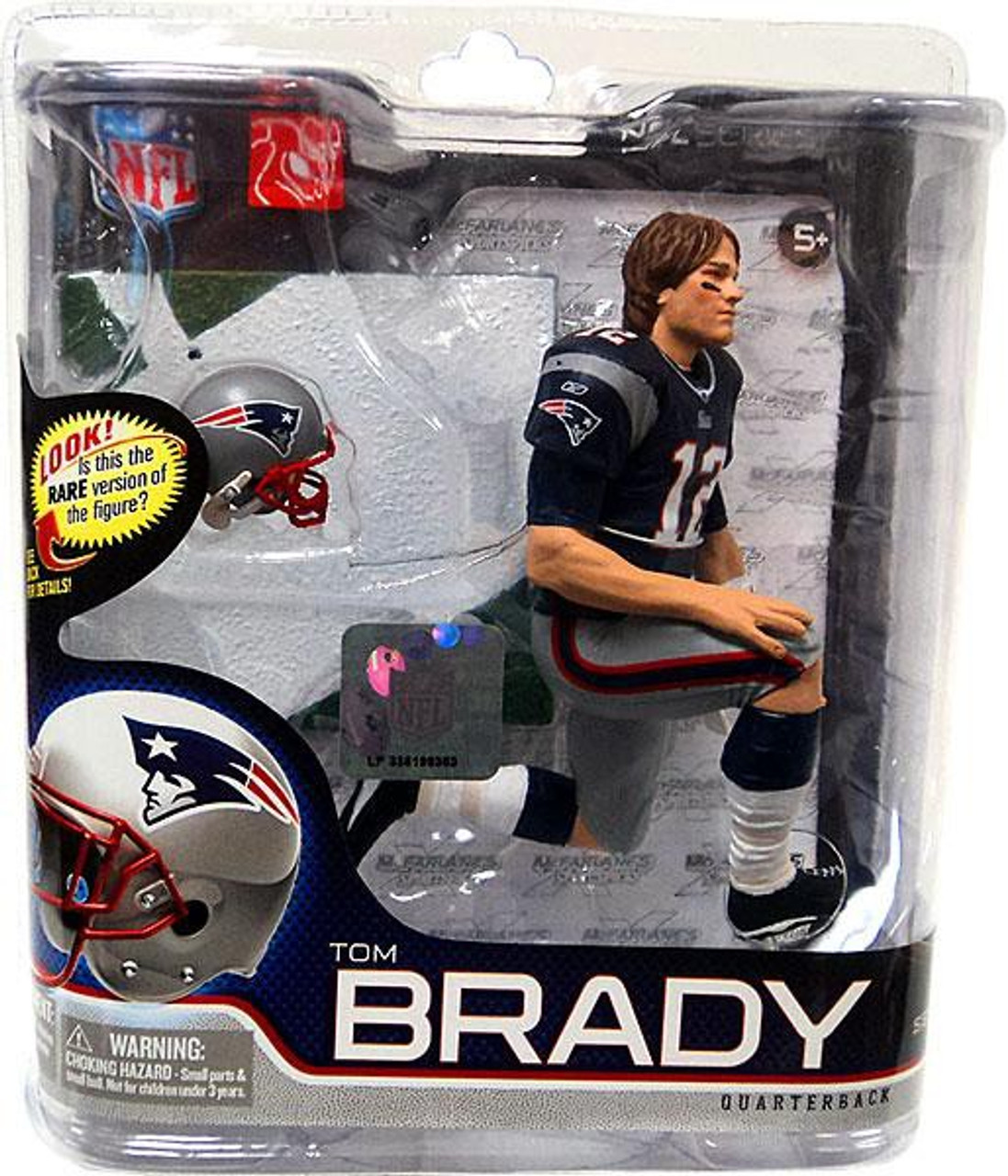 McFarlane Toys NFL New England Patriots Sports Picks Series 27 Tom Brady Action Figure [Blue Jersey & Long Hair]
