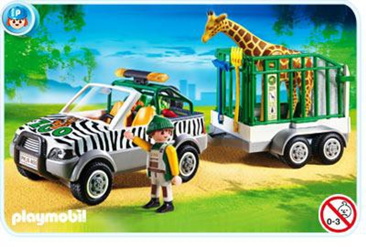 Playmobil Zoo Vehicle with Trailer Set #4855