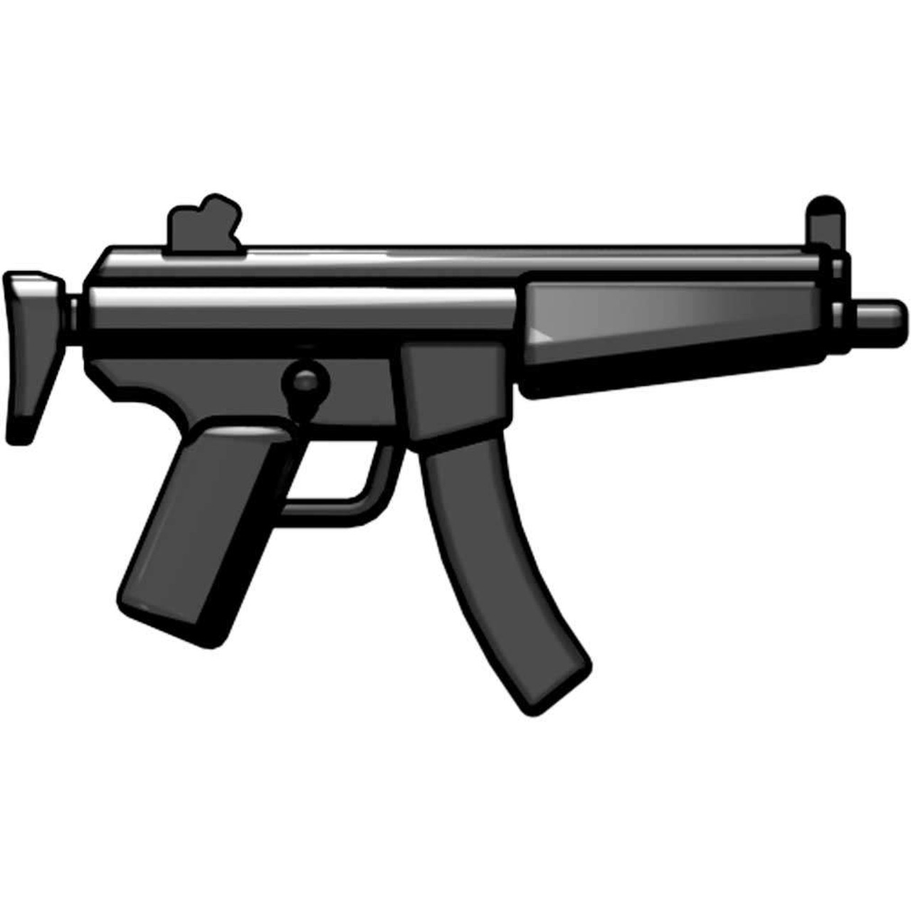 BrickArms Weapons Combat SMG 2.5-Inch [Black]