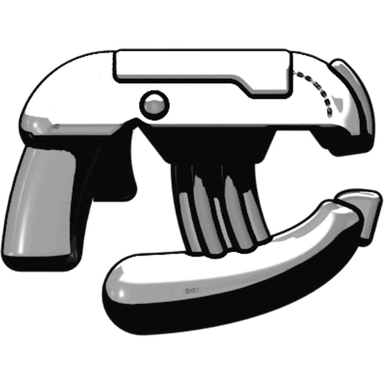 BrickArms Weapons Energy Pistol 2.5-Inch [Silver]