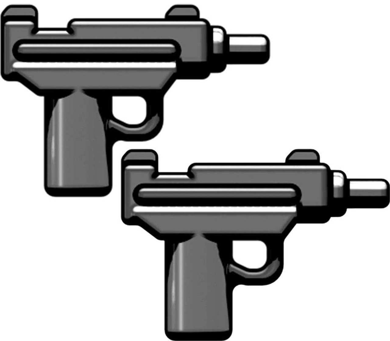 BrickArms Weapons Set of 2 Micro Uzi SMG 2.5-Inch [Gunmetal]
