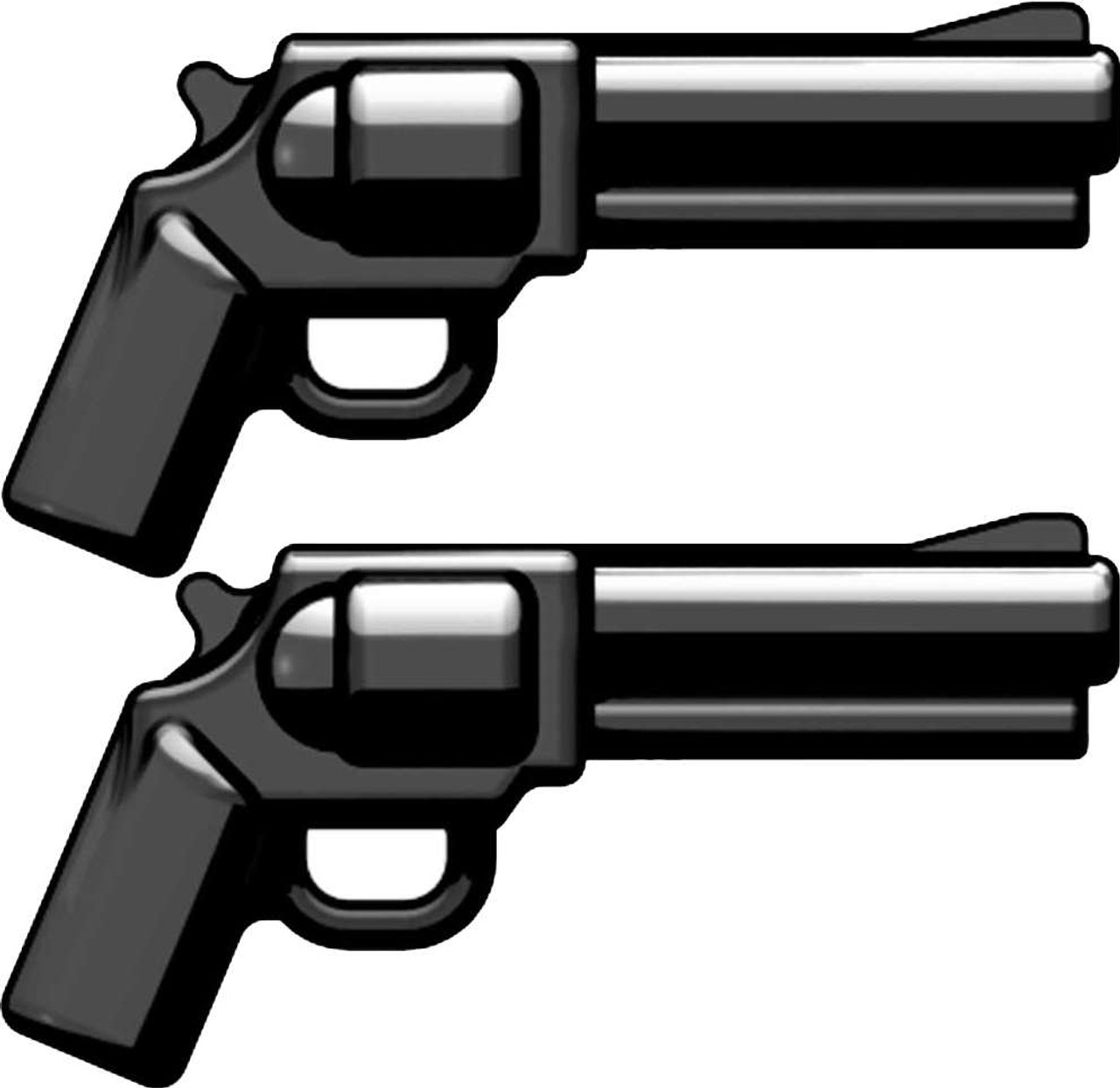 BrickArms Weapons Set of 2 SW500 Magnum Revolvers 2.5-Inch [Black]