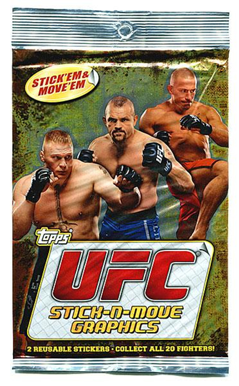UFC 2010 Stick-N-Move Graphics Trading Card Box [20 Packs]
