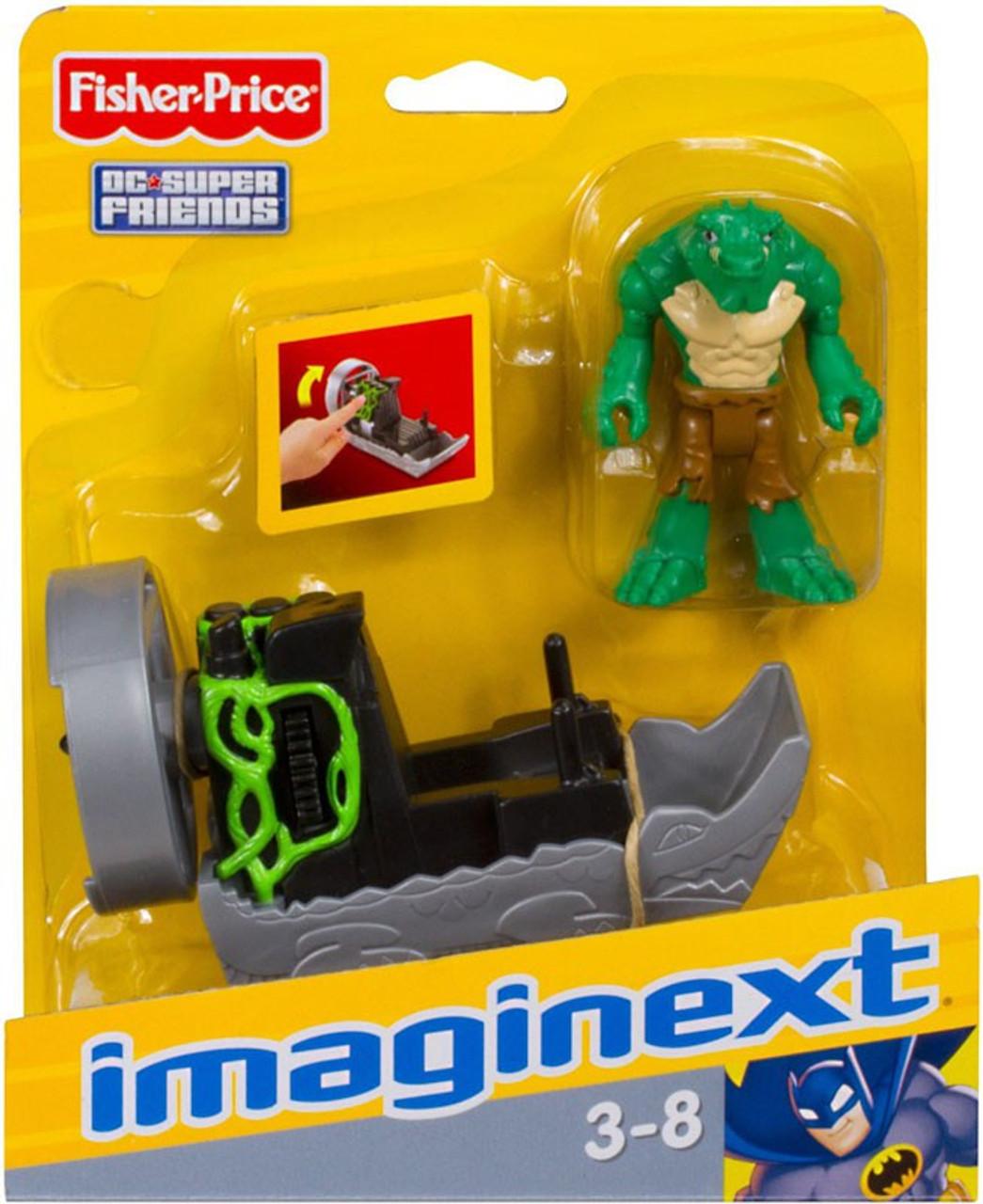 Fisher Price DC Super Friends Batman Imaginext K. Croc 3-Inch Figure Set