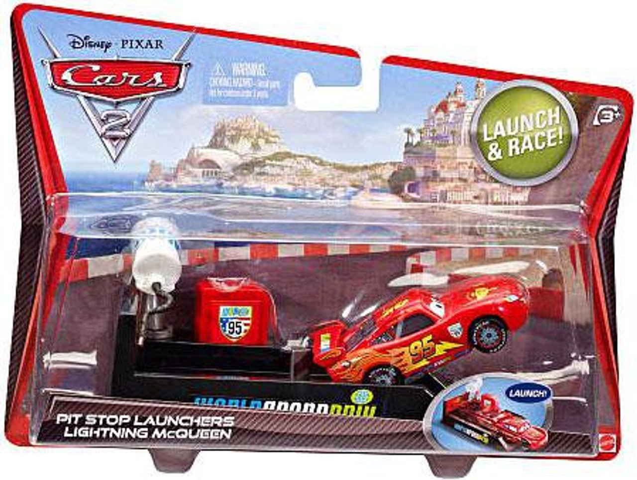 Disney Cars Cars 2 Pit Stop Launchers Lightning McQueen Diecast Car [With Launcher]