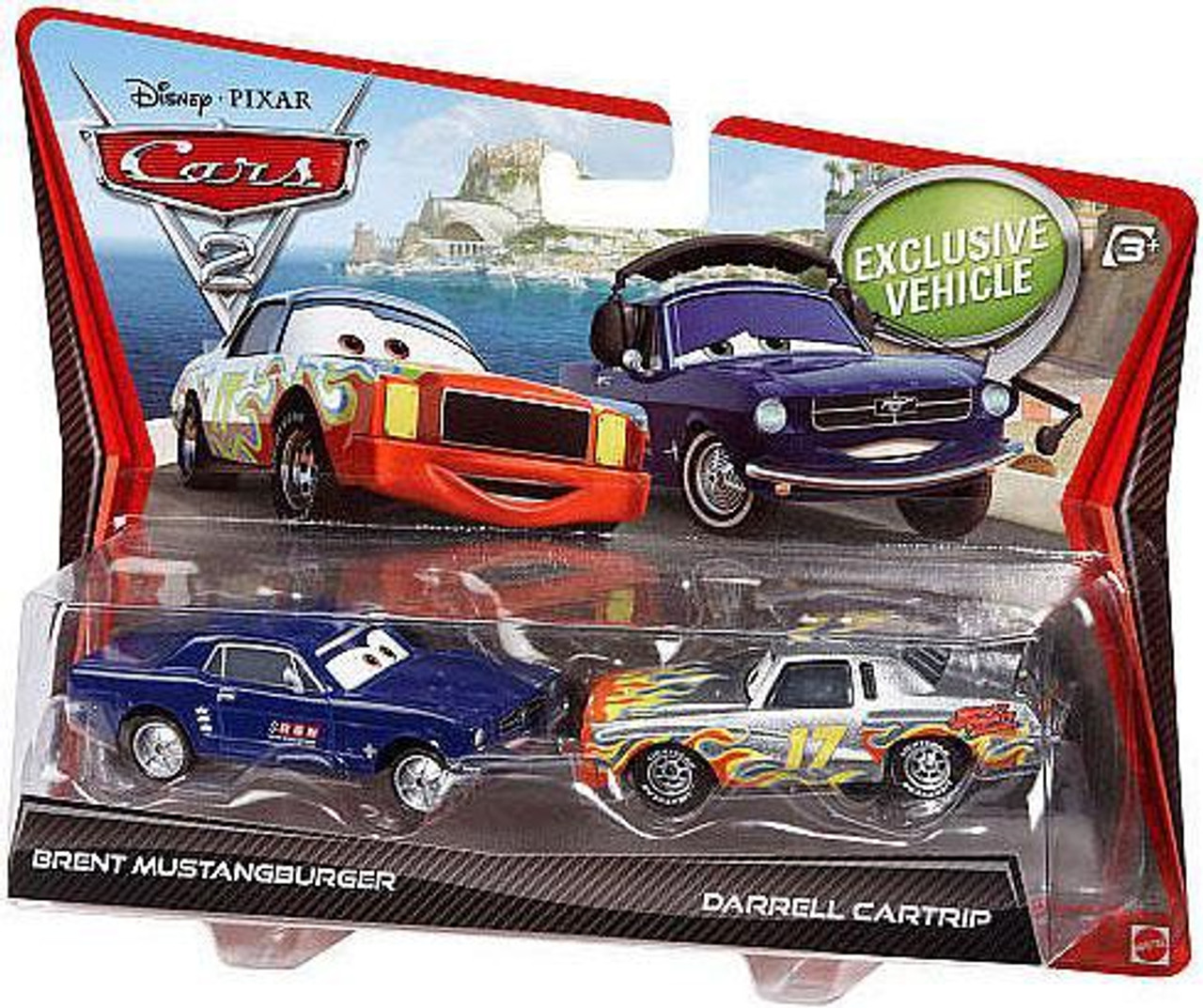 Disney Cars Cars 2 Brent Mustangburger & Darrel Cartrip Diecast Car 2-Pack