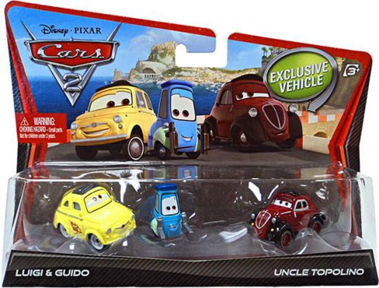 Disney Cars Cars 2 Luigi, Guido & Uncle Topolino Diecast Car 2-Pack