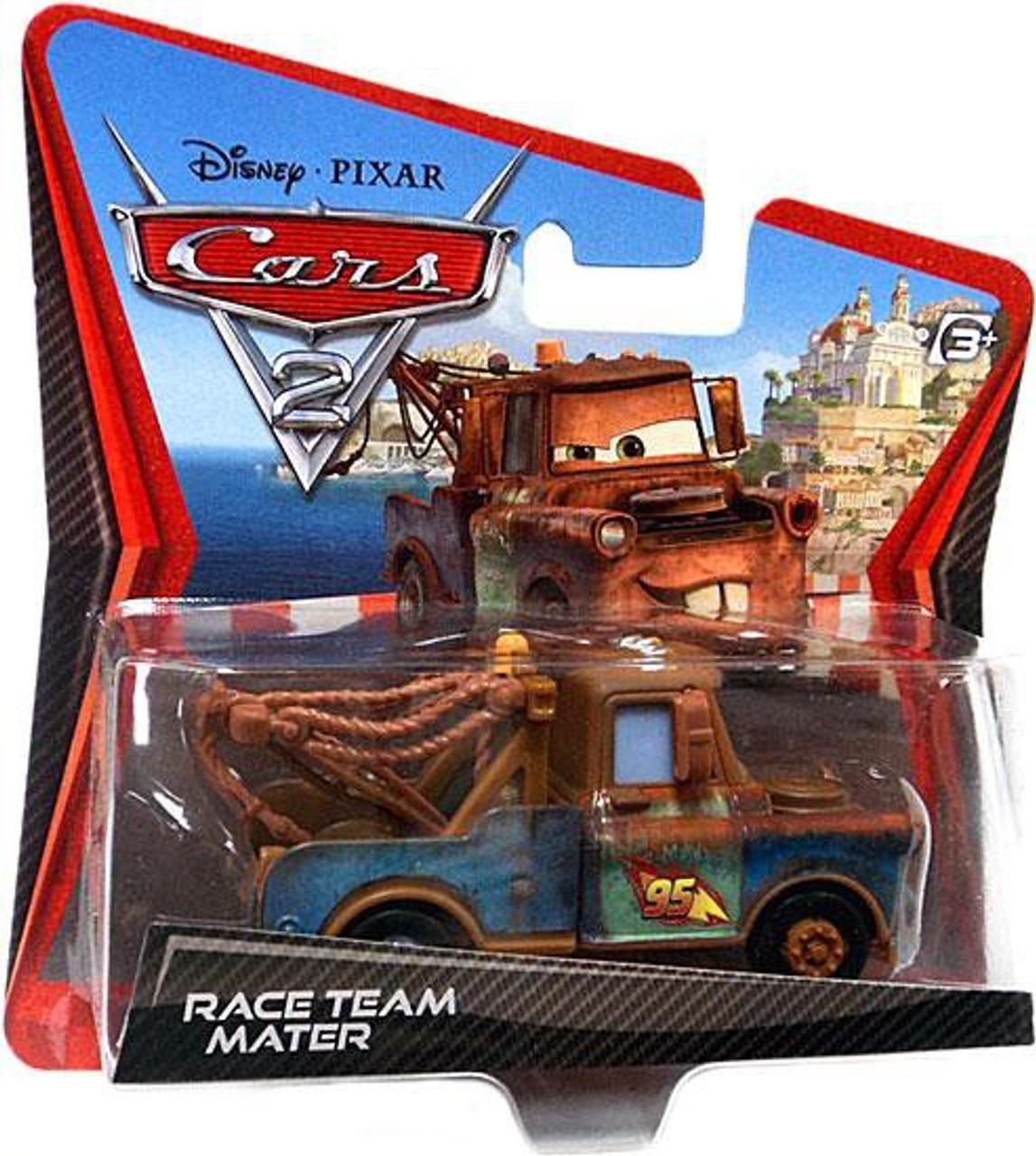 Disney Cars Cars 2 Main Series Race Team Mater Diecast Car [Checkout Lane Packaging]