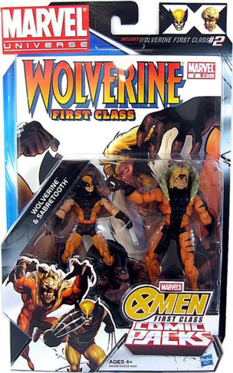 Marvel Universe Wolverine & Sabretooth Action Figure 2-Pack