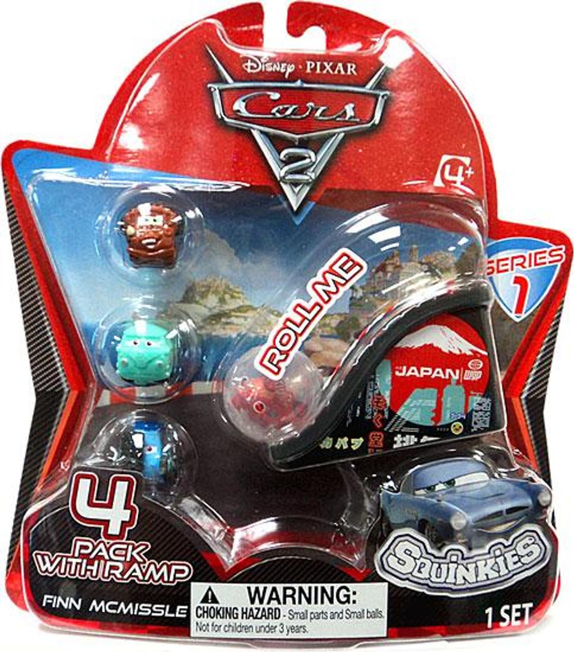Disney Cars Cars 2 Series 1 Squinkies 4-Pack Mini Figures