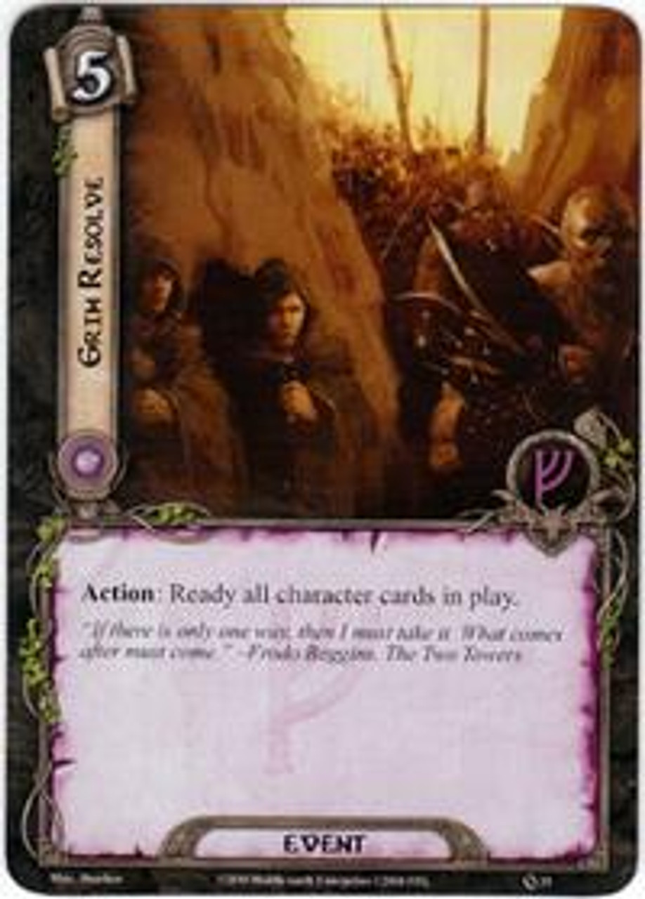 The Lord of the Rings The Card Game Core Set Rare Grim Resolve #25