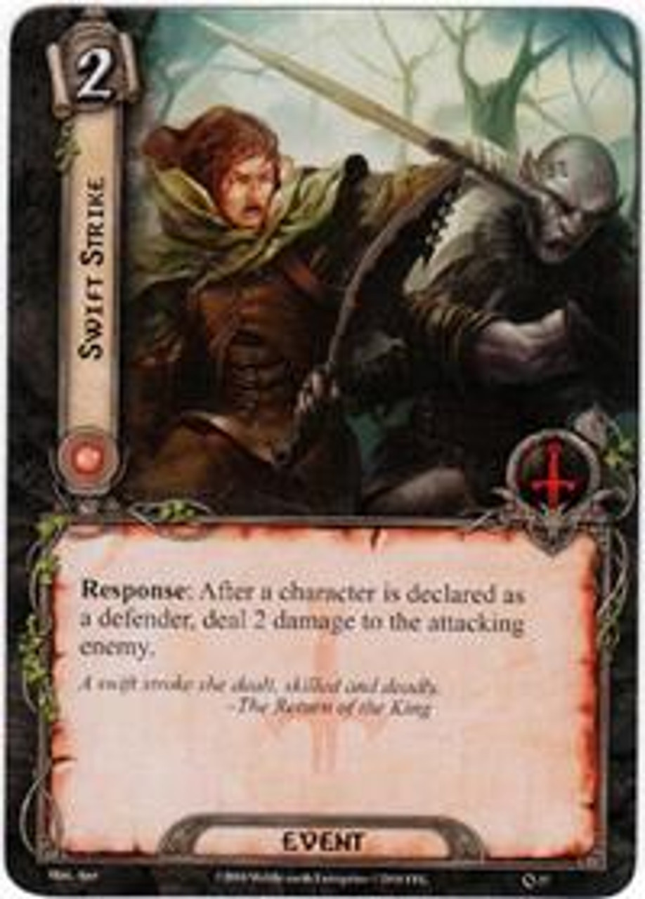 The Lord of the Rings The Card Game Core Set Rare Swift Strike #37