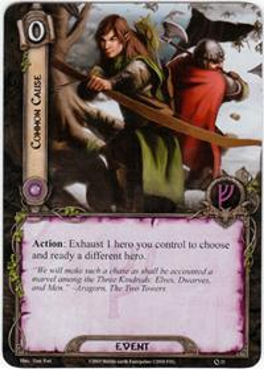 The Lord of the Rings The Card Game Core Set Uncommon Common Cause #21