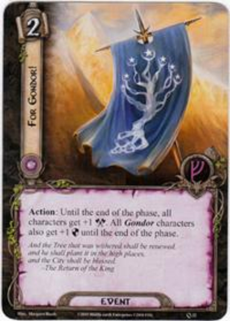 The Lord of the Rings The Card Game Core Set Uncommon For Gondor! #22