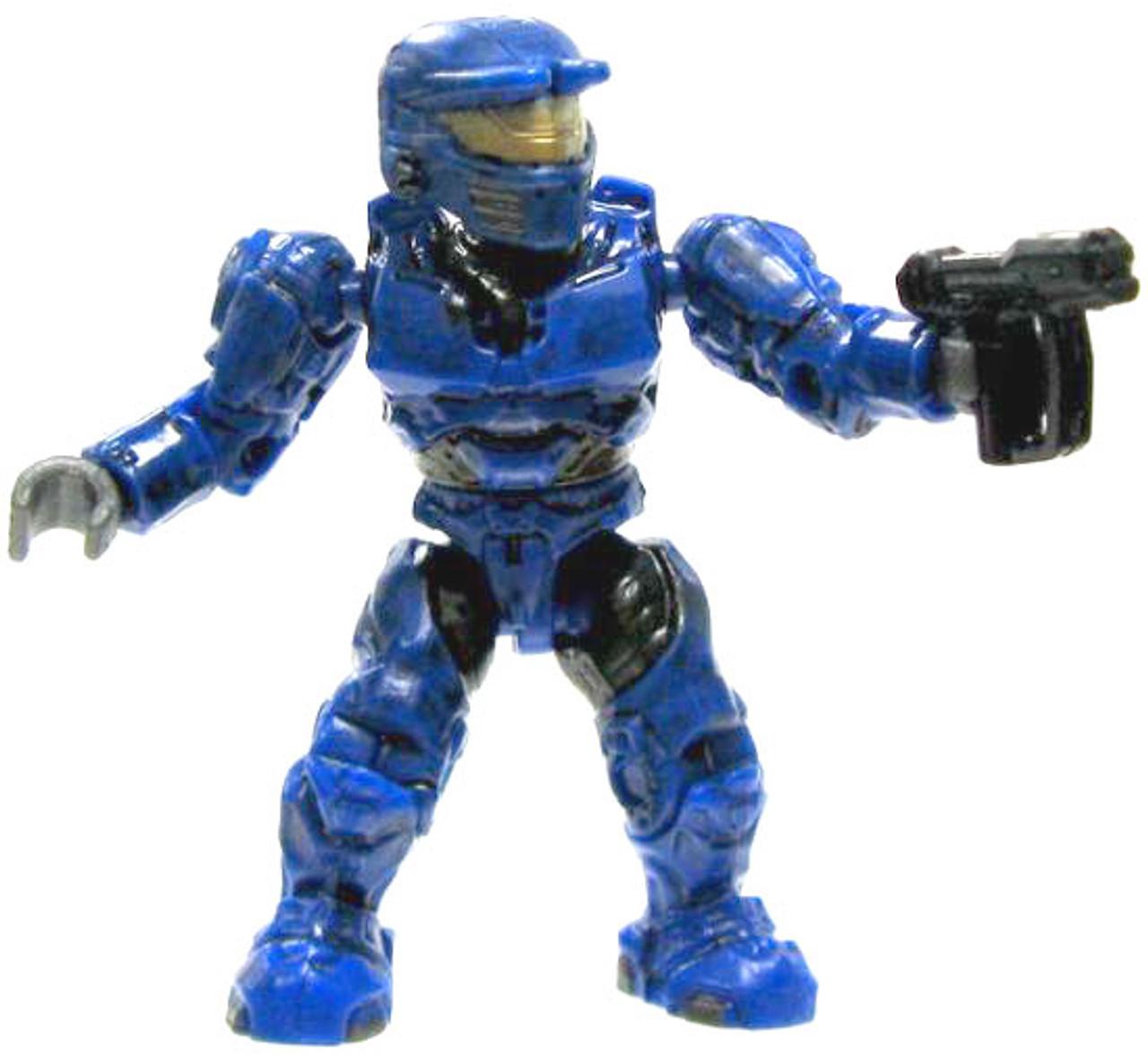 Mega Bloks Halo Loose Mark VI Spartan 2-Inch Minifigure [Blue Loose]