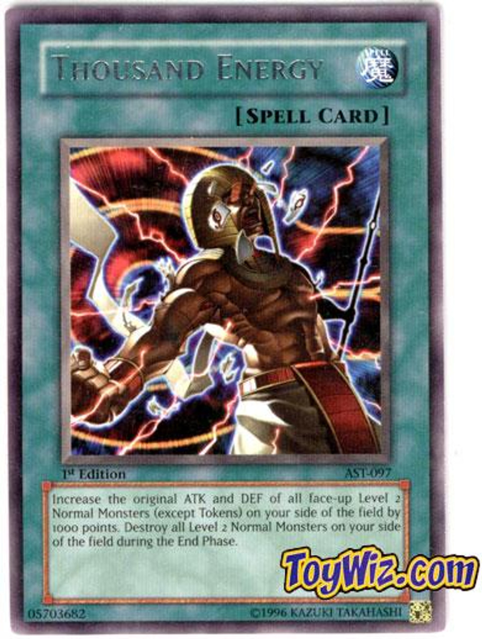 YuGiOh Ancient Sanctuary Rare Thousand Energy AST-097