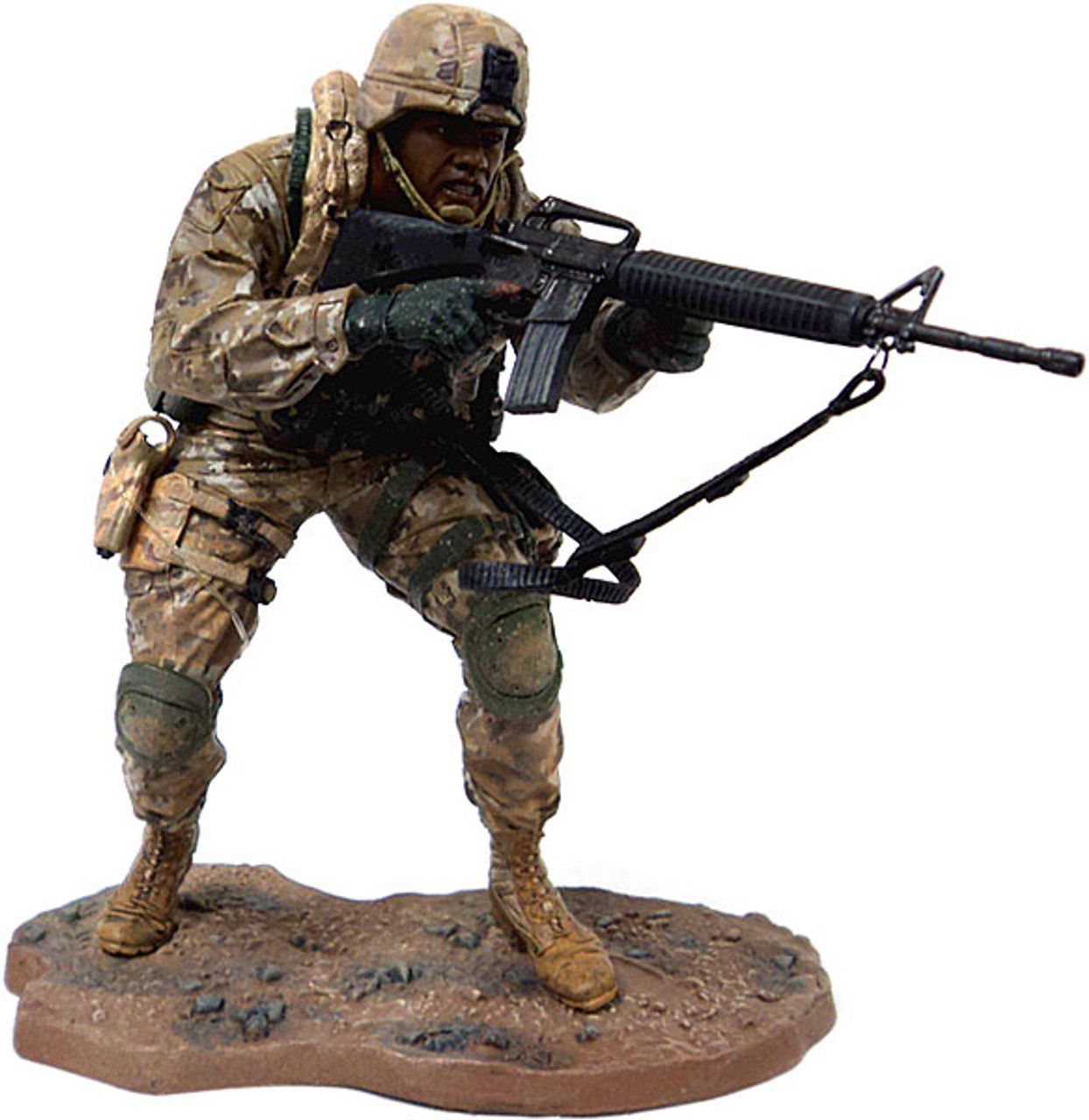 McFarlane Toys Military Redeployed Series 1 Marine Recon Soldier Action Figure [African American, Loose]