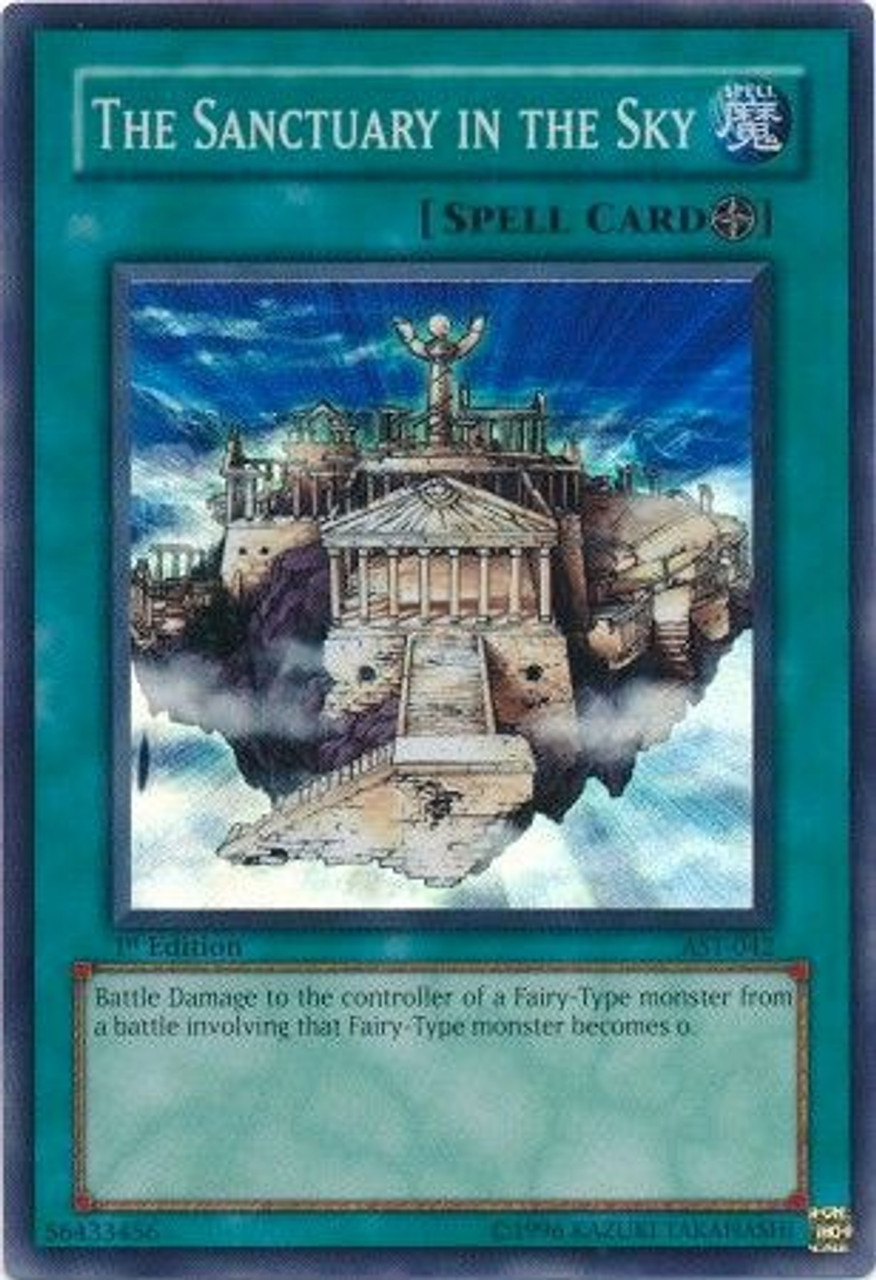 YuGiOh Ancient Sanctuary Super Rare The Sanctuary in the Sky AST-042