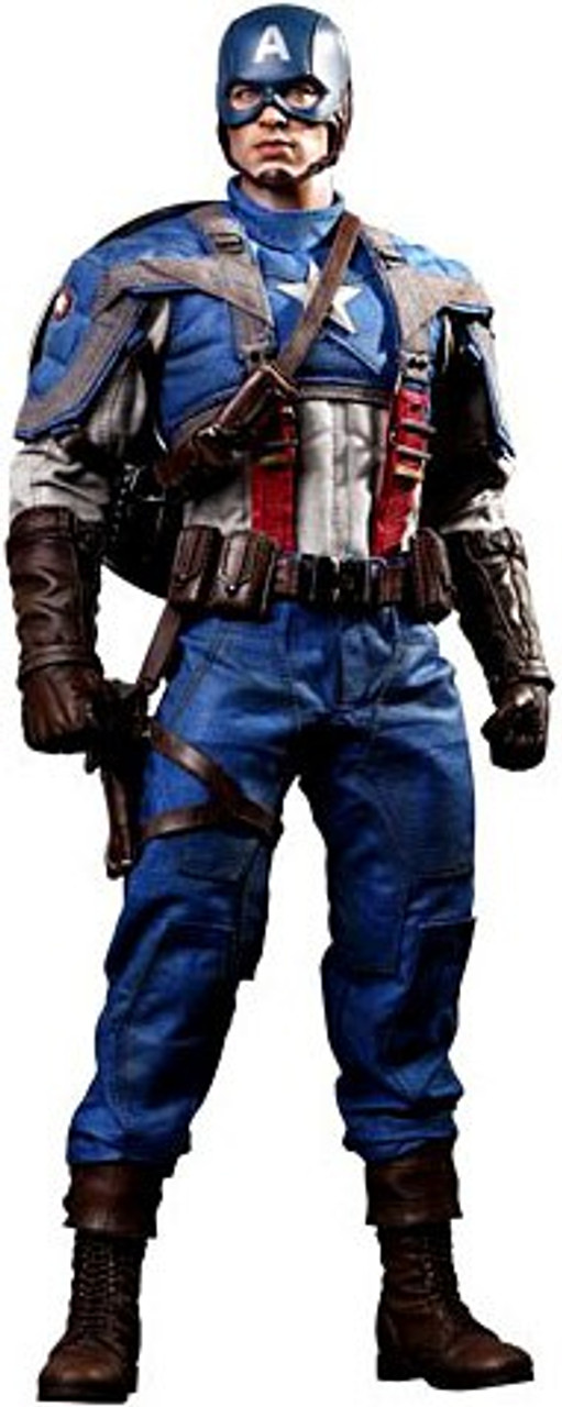 The First Avenger Movie Masterpiece Captain America 1/6 Collectible Figure [The First Avenger]
