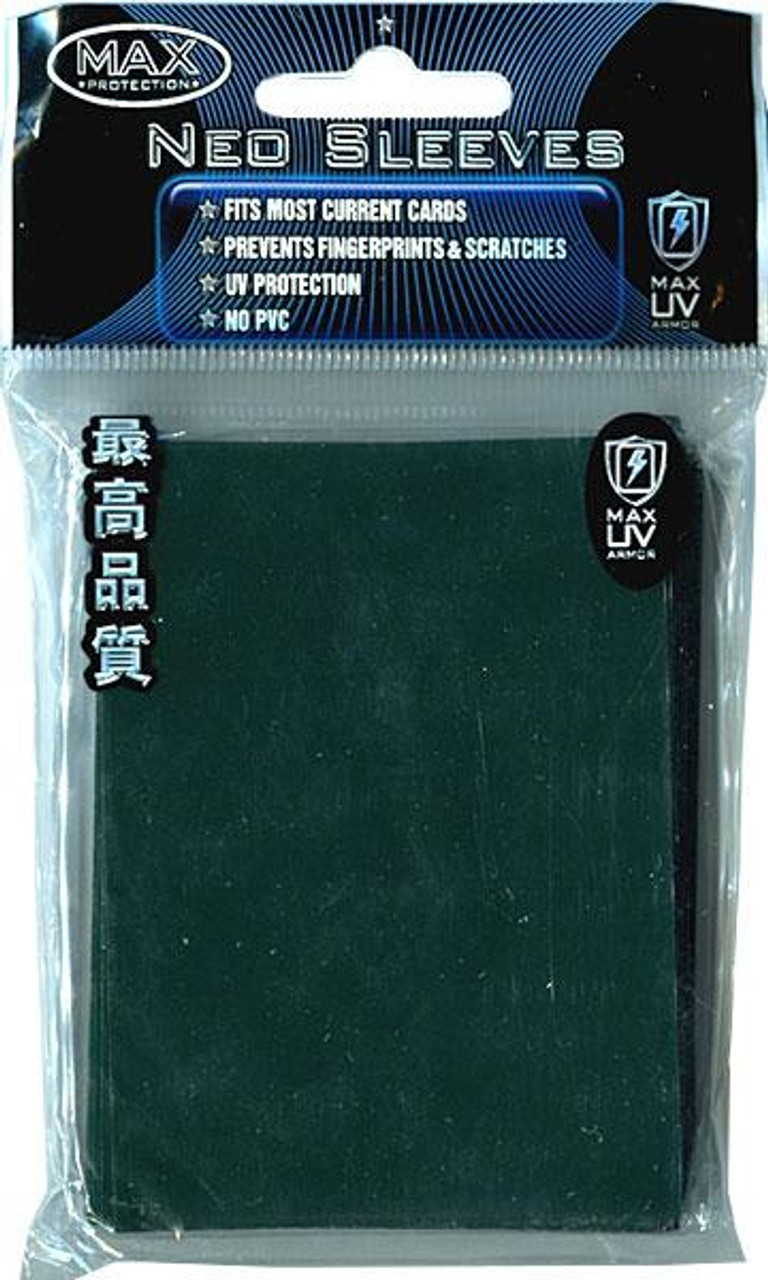 Card Supplies Neo Sleeves Flat Emerald Green Standard Card Sleeves [50 Count]