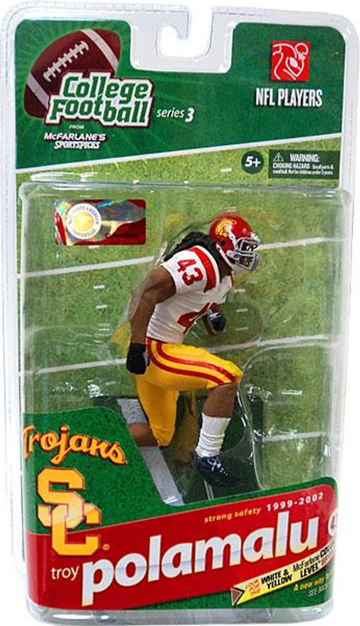 McFarlane Toys NCAA College Football Sports Picks Series 3 Troy Polamalu Action Figure [White Jersey]