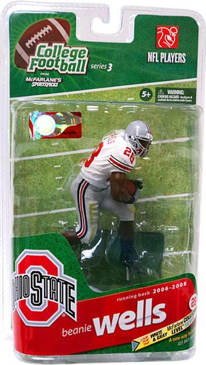 McFarlane Toys NCAA College Football Sports Picks Series 3 Beanie Wells Action Figure [White Jersey]