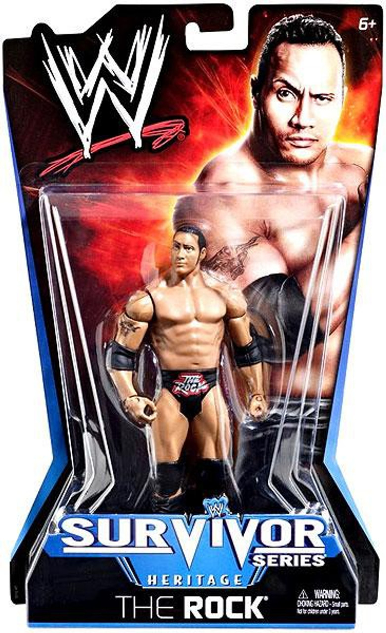 WWE Wrestling Pay Per View Series 11 Survivor Series Heritage The Rock Action Figure