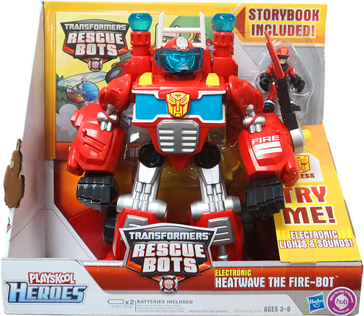 Transformers Rescue Bots Playskool Heroes Electronic Heatwave The Fire-Bot Action Figure