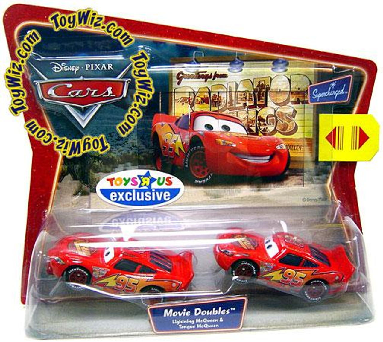 Disney Cars Lightning & Tongue McQueen Exclusive Diecast Car 2-Pack