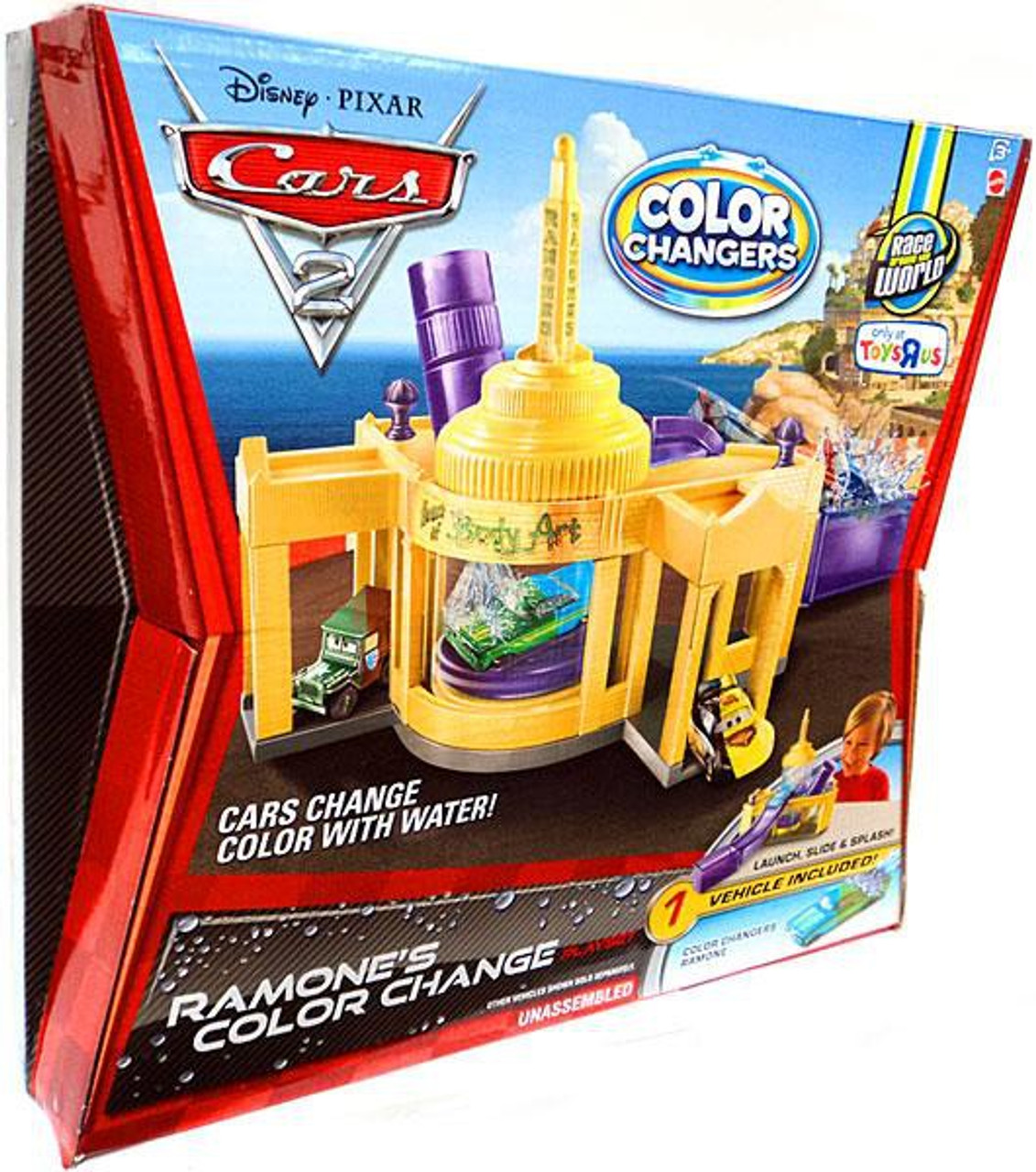 Disney Cars Cars 2 Color Changers Ramone's Color Change Exclusive Playset