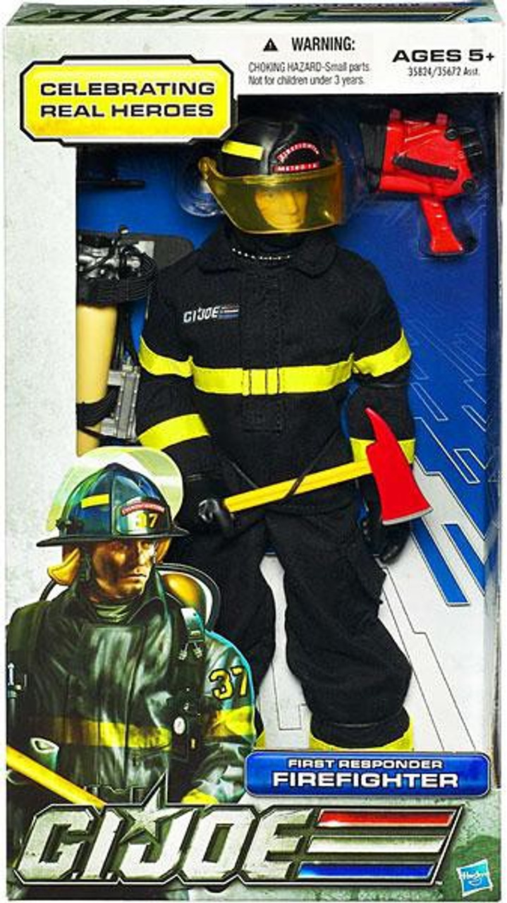 GI Joe Celebrating Real Heroes First Responder Firefighter 12 Inch Action Figure