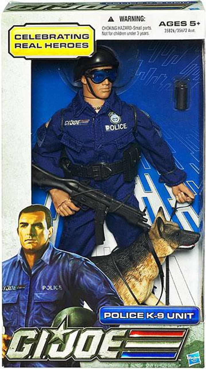 GI Joe Celebrating Real Heroes Police K-9 Unit 12 Inch Action Figure