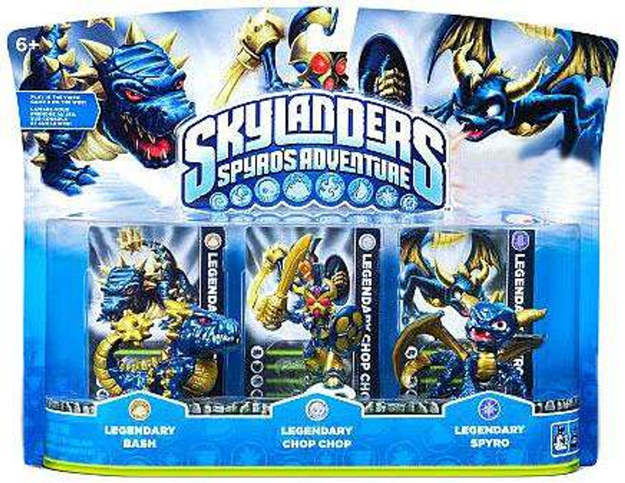 Skylanders Spyro's Adventure Legendary Bash, Chop Chop & Spyro Exclusive Figure 3-Pack