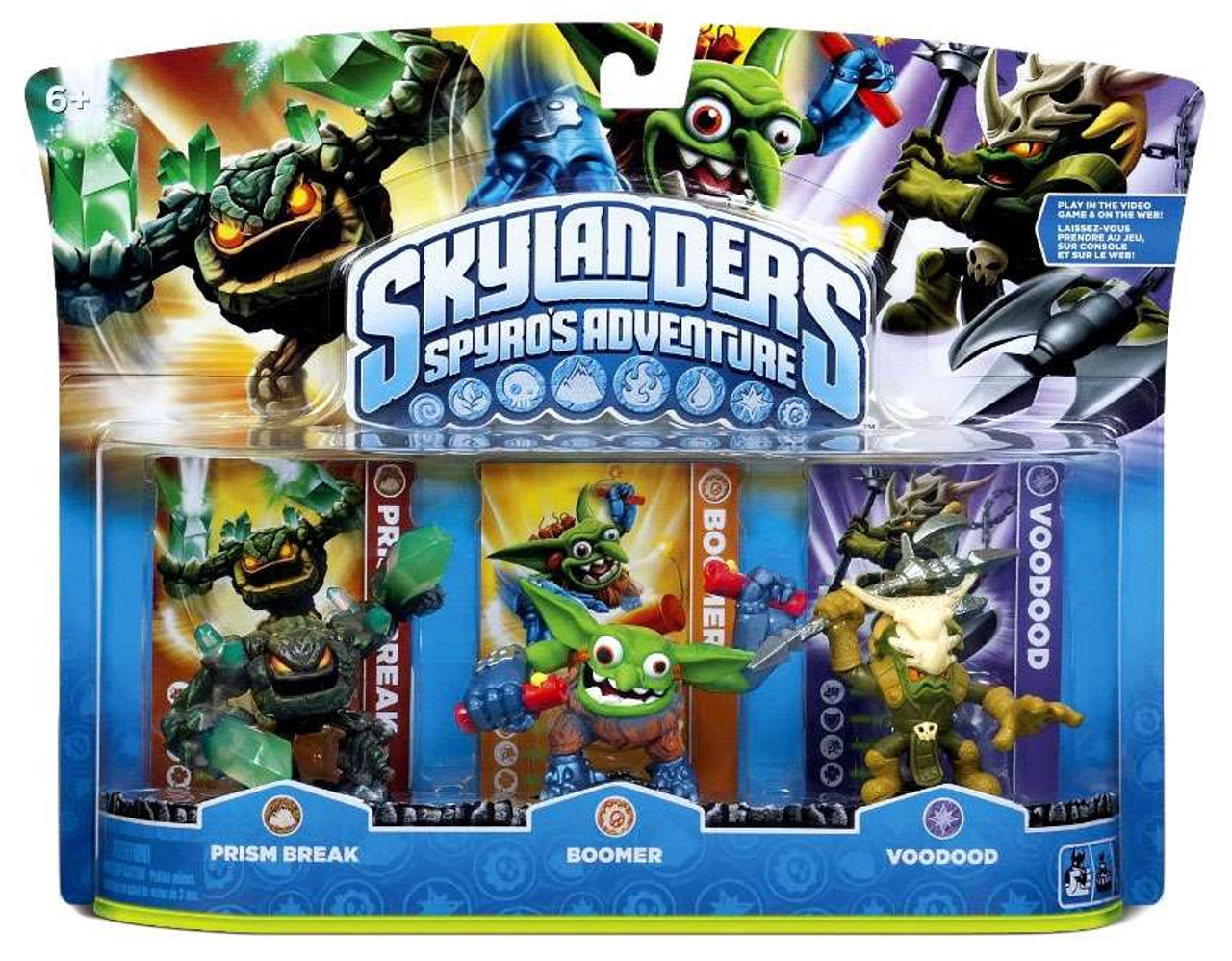 Skylanders Spyro's Adventure Prism Break, Boomer & Voodood Figure 3-Pack