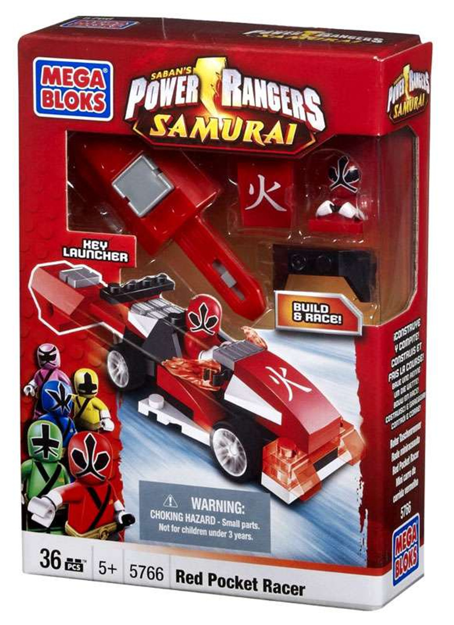 Mega Bloks Power Rangers Samurai Red Pocket Racer Set #5766