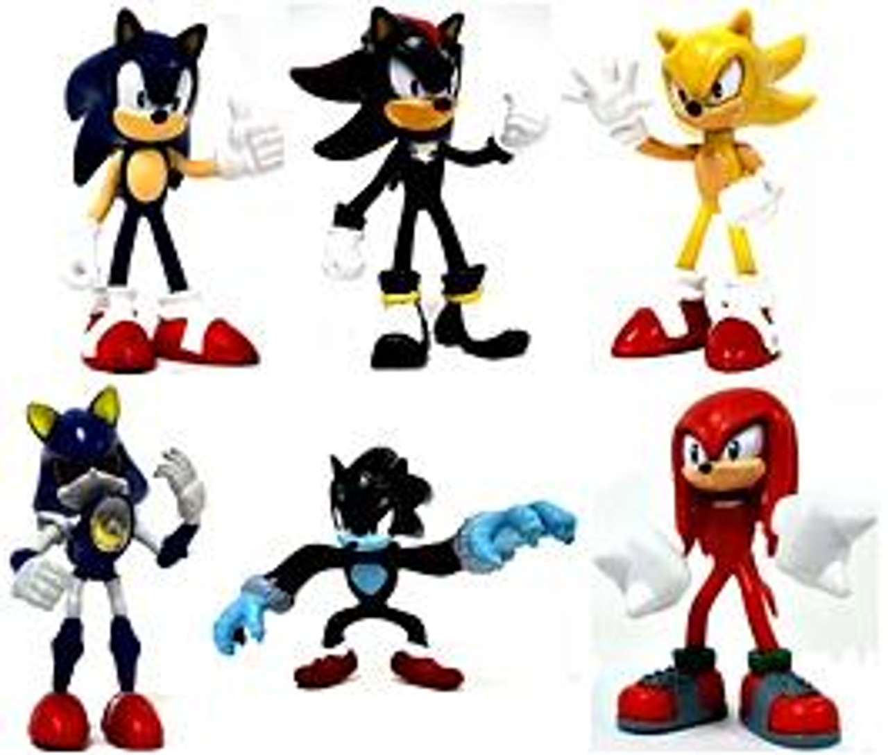 Gacha Sonic The Hedgehog Set of 6 2.5-Inch Mini Figures