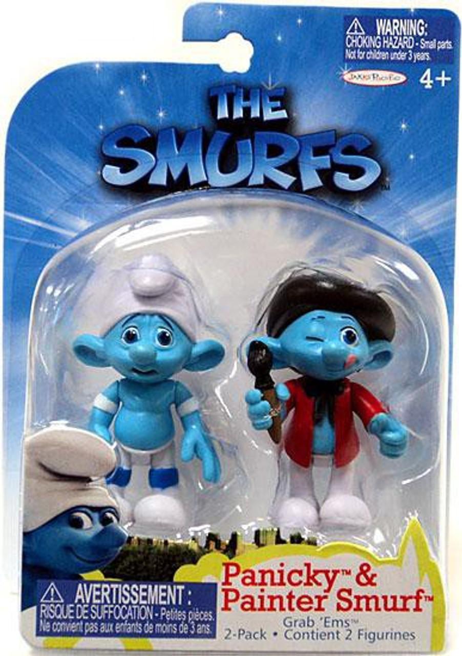 The Smurfs Movie Grab 'Ems Panicky & Painter Smurf Mini Figure 2-Pack
