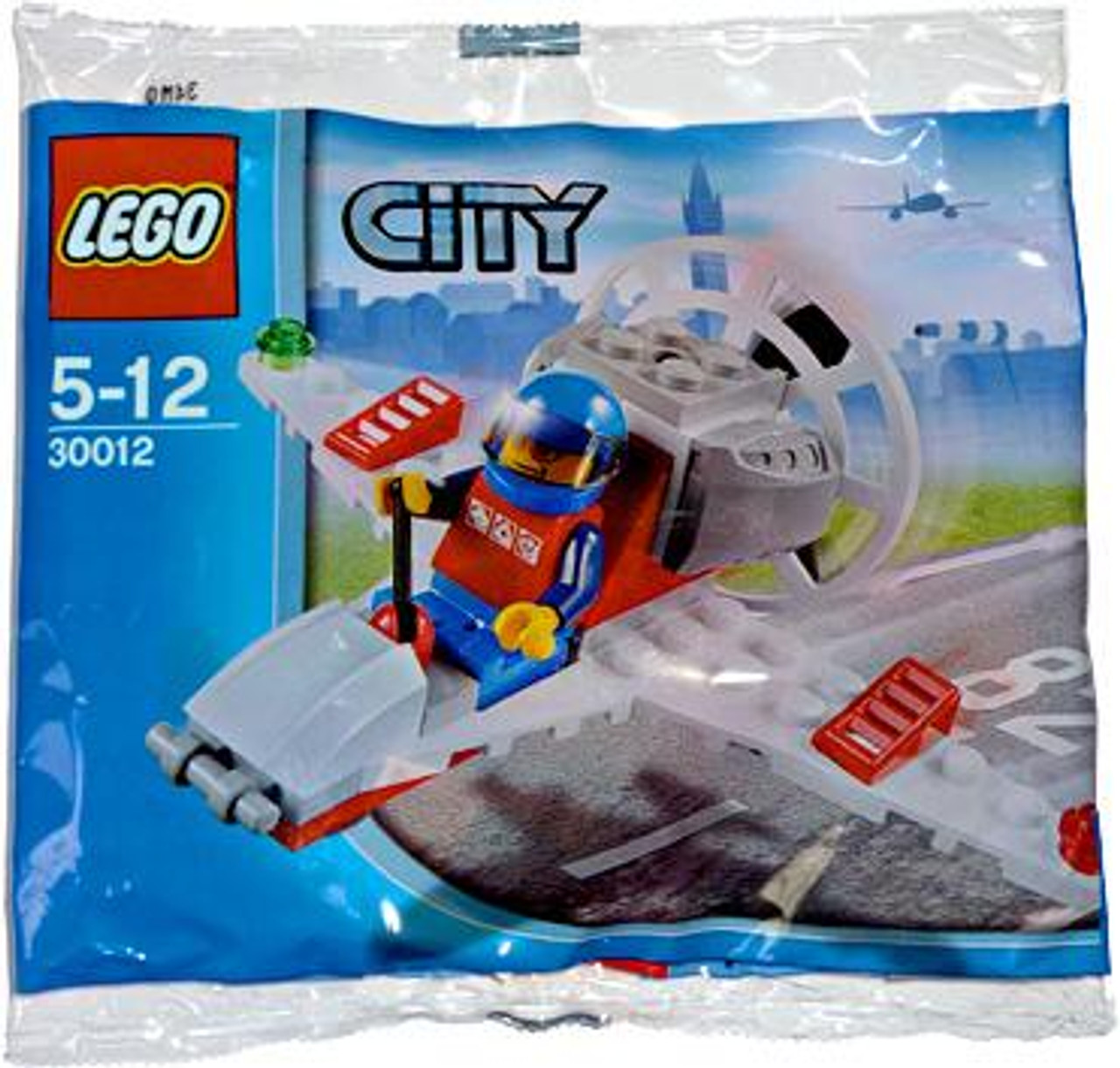 LEGO City Mini Airplane Mini Set #30012 [Bagged]