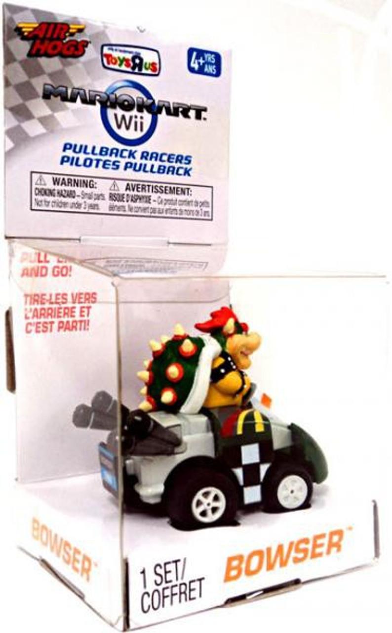 Super Mario Mario Kart Wii Air Hogs Pullback Racers Bowser Exclusive Go-Kart