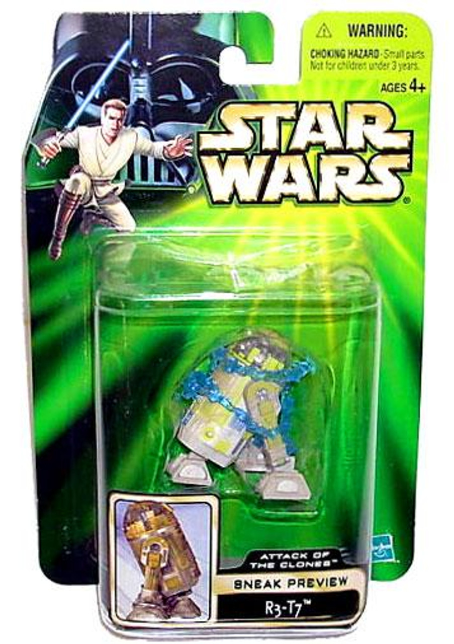 Star Wars Attack of the Clones Power of the Jedi 2002 Sneak Preview R3-T7 Action Figure