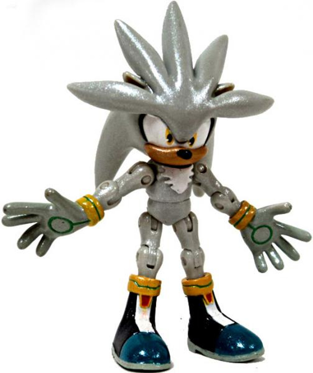 Sonic The Hedgehog 20th Anniversary Silver Exclusive Action Figure [Shiny Metallic Loose]