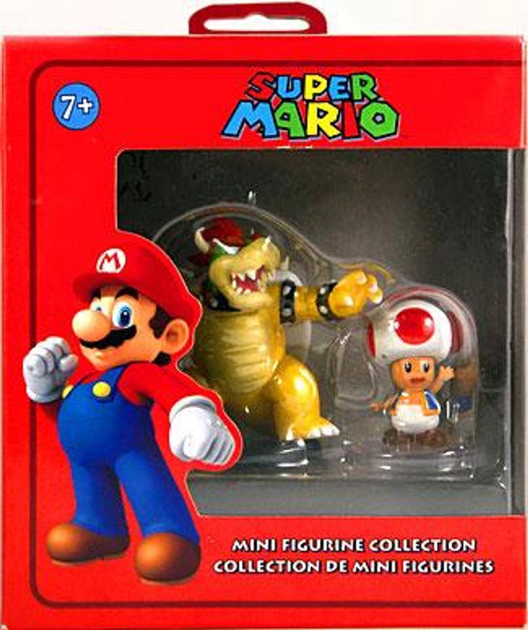 Super Mario Bowser & Toad Mini Figure 2-Pack