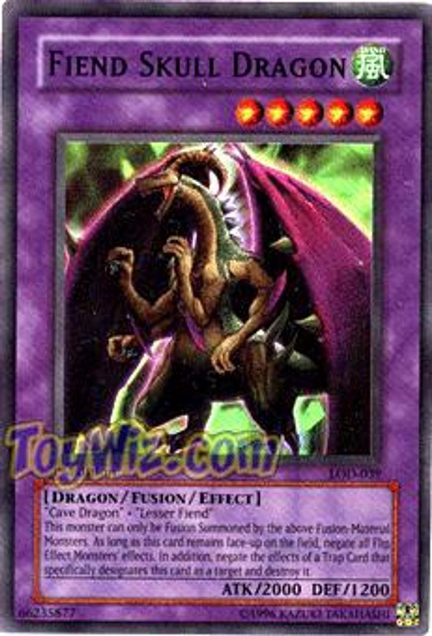 YuGiOh Legacy of Darkness Super Rare Fiend Skull Dragon LOD-039