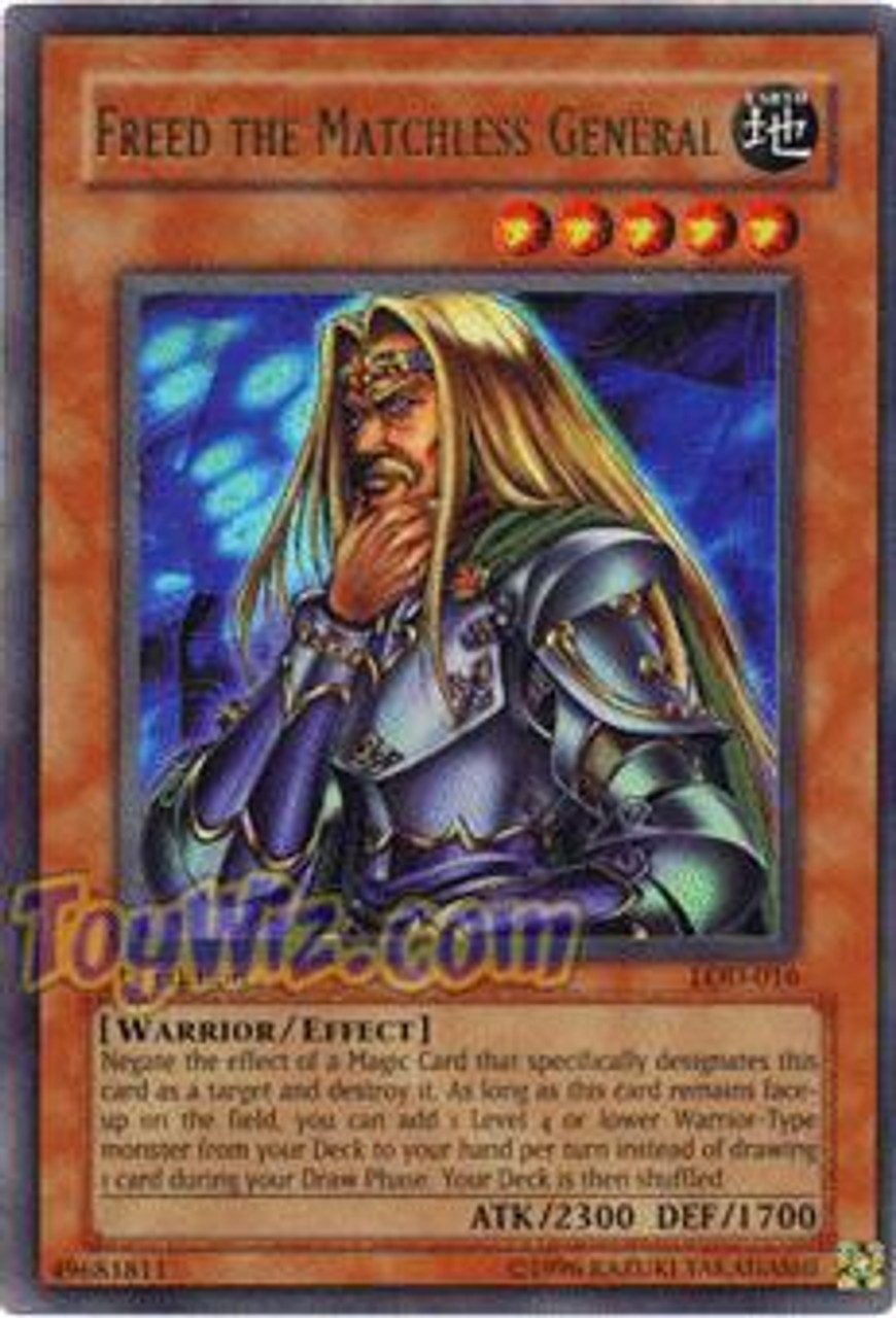 YuGiOh Legacy of Darkness Ultra Rare Freed The Matchless General LOD-016