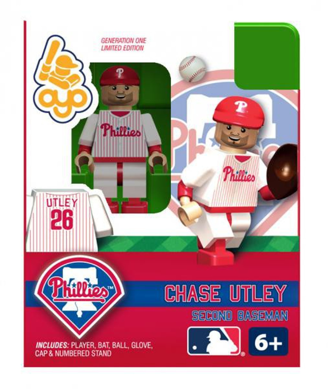 Philadelphia Phillies MLB Generation One Chase Utley Minifigure