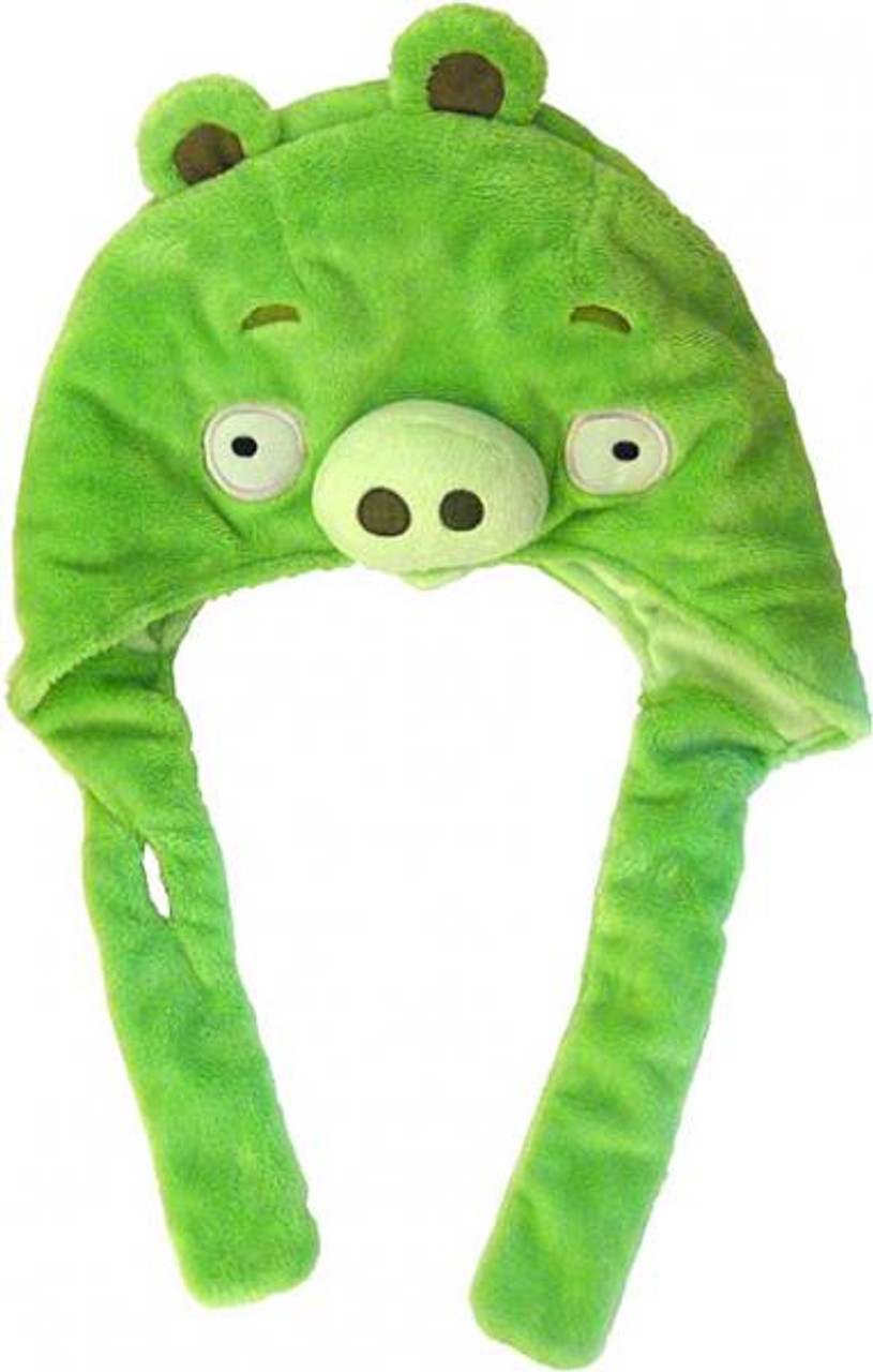 Angry Birds Green Pig Plush Laplander Hat
