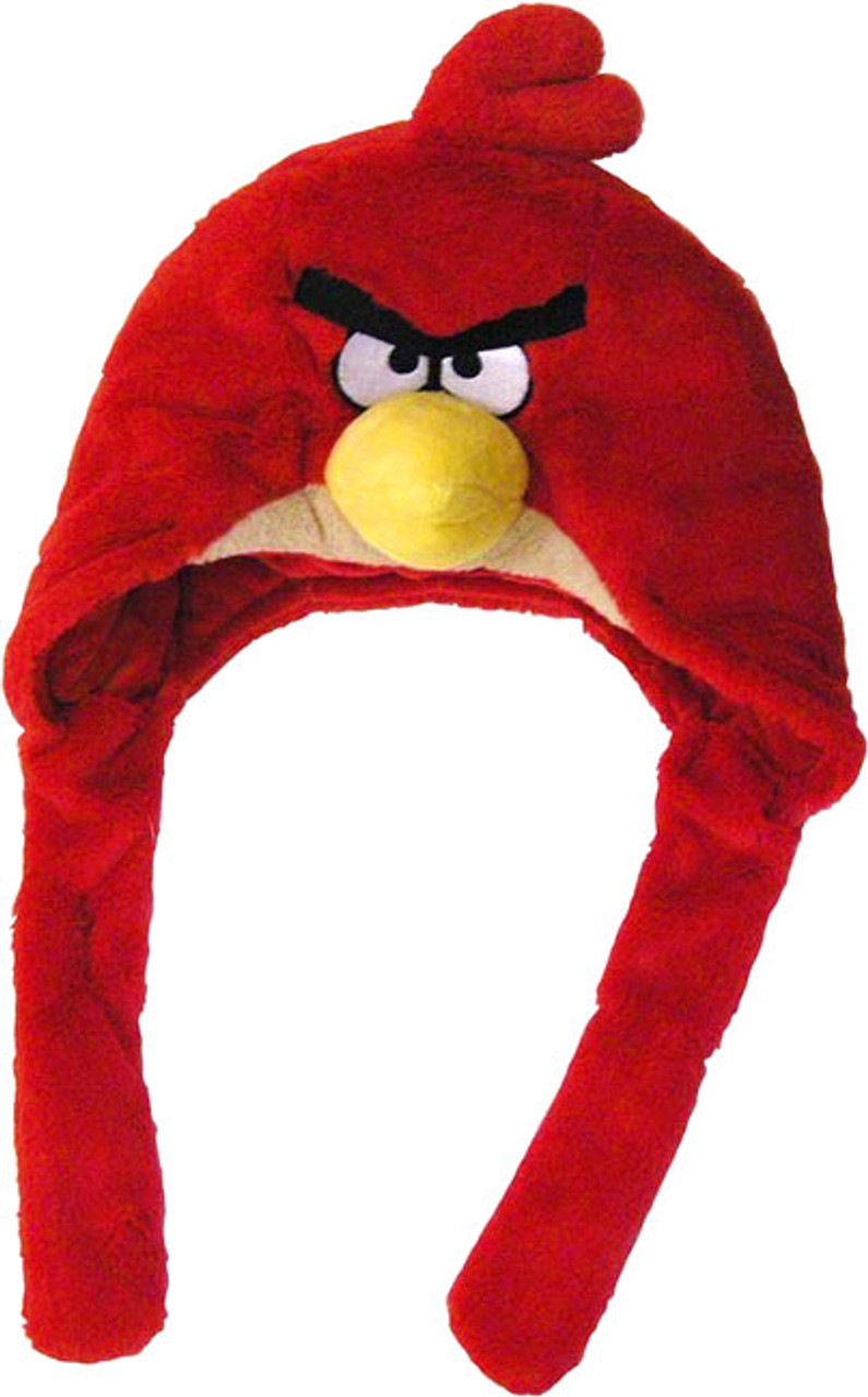 Angry Birds Red Bird Plush Laplander Hat