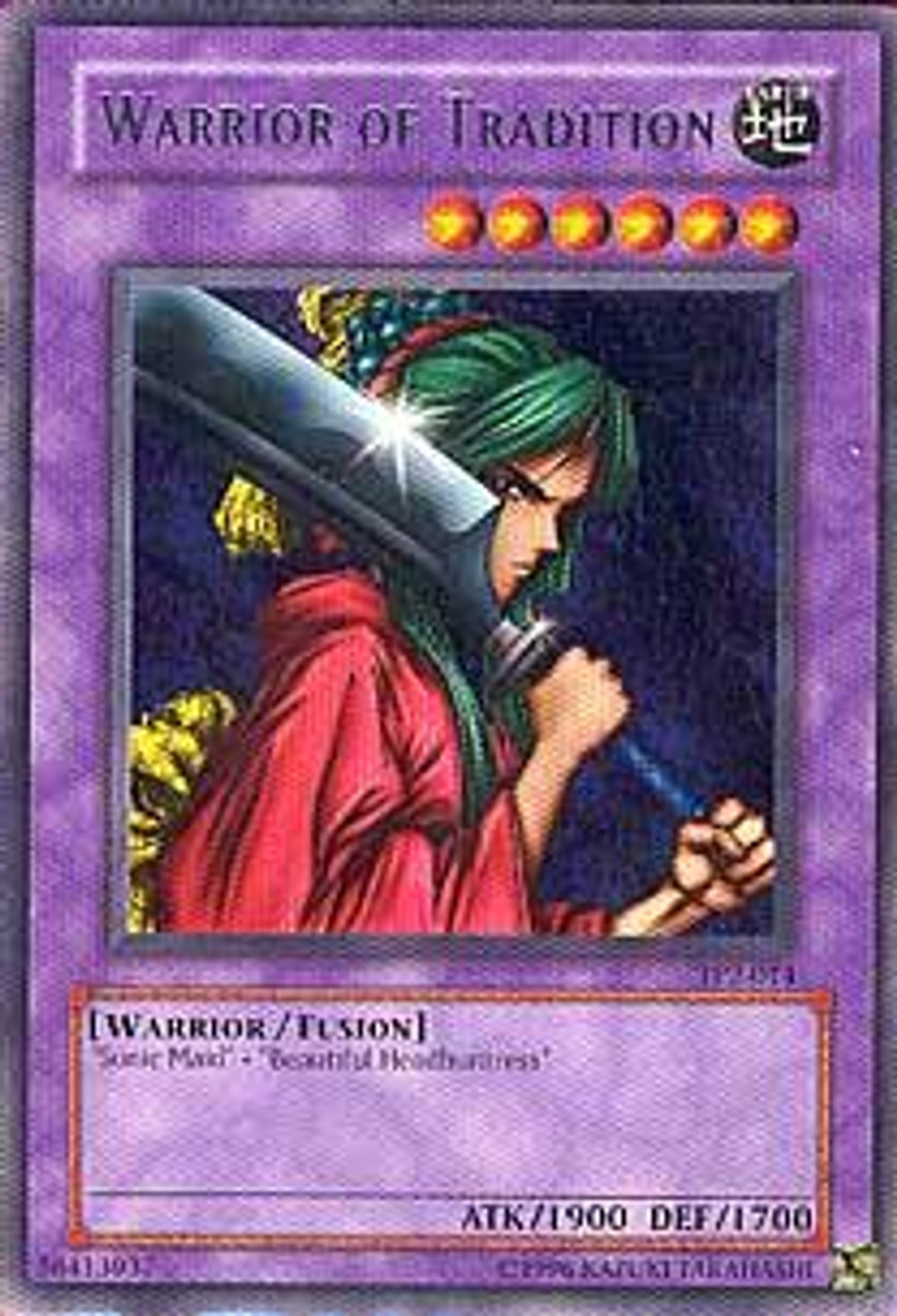 YuGiOh Tournament Pack 2 Rare Warrior of Tradition TP2-014
