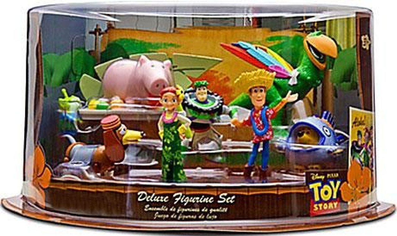 Disney Toy Story Hawaiian Vacation Exclusive Deluxe 9 Piece PVC Figure Set